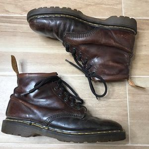 DR MARTENS Boots  BROWN Leather  MADE IN ENGLAND